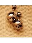 Серьги-пуссеты в стиле Dior (Бронзовые)