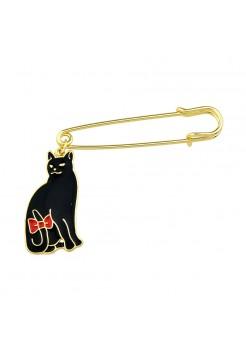 """Брошь """"Черный кот"""""""