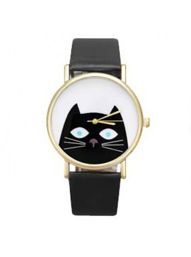 """Часы """"Кот"""" (Черные)"""