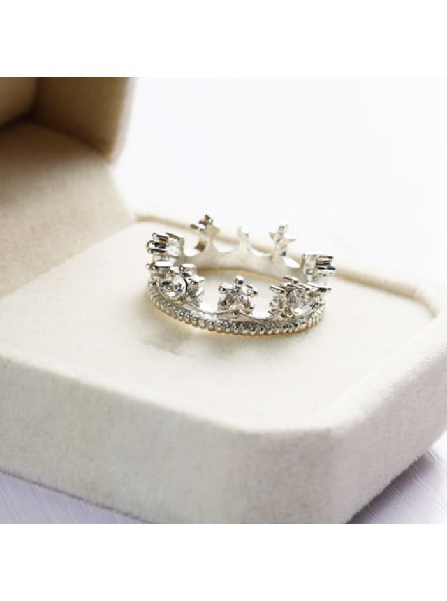 "Кольцо ""Корона"" (Серебристое)"
