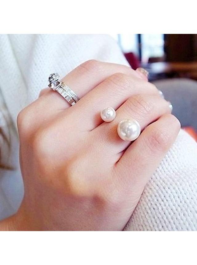Кольцо в стиле Dior (Серебристое)