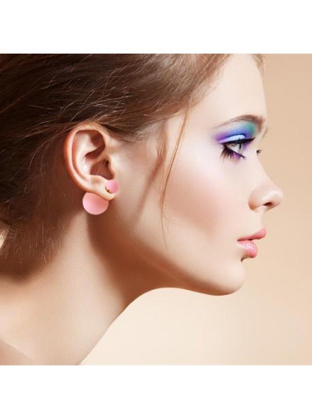 Серьги-пусеты в стиле Dior (Светло-розовые)