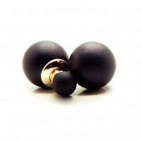 Серьги-пусеты в стиле Dior (Черные)