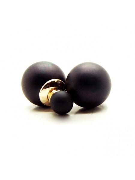 Серьги-пуссеты в стиле Dior (черные)