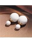 Серьги-пусеты в стиле Dior (Белые)