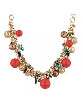 """Ожерелье в стиле Dior """"Шик"""" (Красный жемчуг)"""