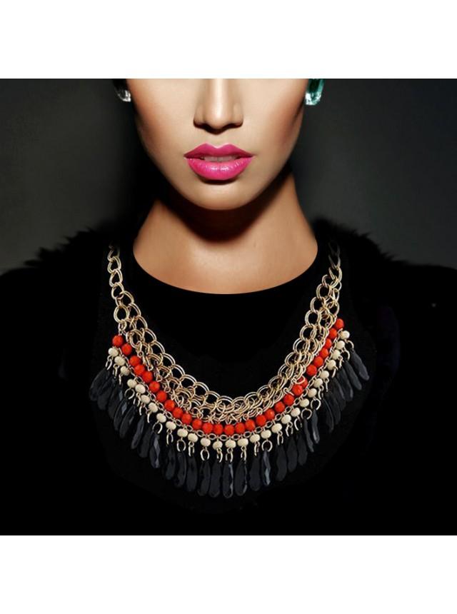 "Ожерелье ""Аида"" (Красные бусины)"