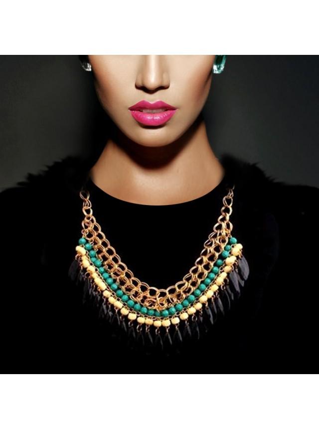 "Ожерелье ""Аида"" (Зеленые бусины)"