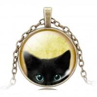 """Медальон """"Черный кот"""""""